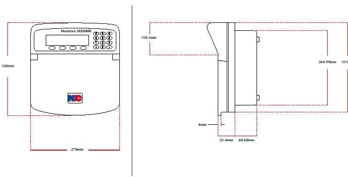 Przenośny analizator mikrofalowy do pomiaru wilgotności papieru Moistrex MX8000